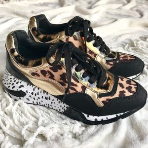 Steve Madden Leopard Wedge Sneakers